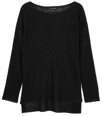 Eileen Fisher Black Metallic Linen