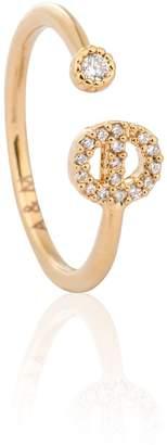 Astrid & Miyu - Gold Initial E Ring