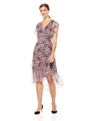 Shoshanna Women's Elnora Short Sleeve Midi Dress