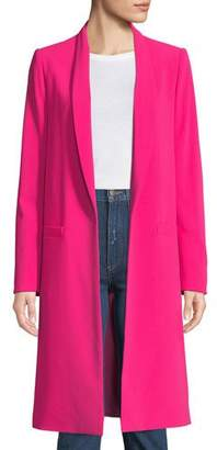Alice + Olivia Kylie Long Easy Shawl-Collar Jacket