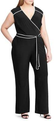 d39889269156 Lauren Ralph Lauren Plus Jersey Wide-Leg Jumpsuit