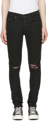 Rag & Bone Black Standard Issue Fit 1 Jeans $225 thestylecure.com