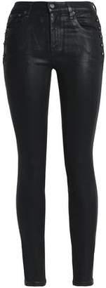 Roberto Cavalli (ロベルト カヴァリ) - Roberto Cavalli Studded Coated Skinny Jeans