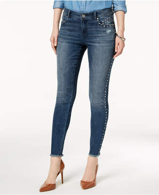 INC International Concepts I.n.c. Petite Studded Skinny Jeans