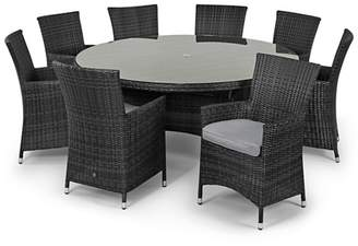 Debenhams MAZE RATTAN Grey Rattan Effect 'La' Round Table And 8 Chairs