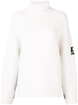 Courreges roll neck knitted jumper