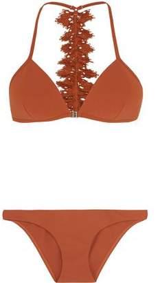 Zimmermann Alchemy Broderie Anglaise-Trimmed Triangle Bikini