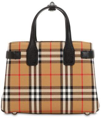 Burberry Small Banner Vintage Check Canvas Bag 357acc898c