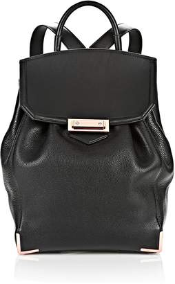 Alexander Wang Prisma Skeletal Backpack In Soft Pebbled Black With Rose Gold