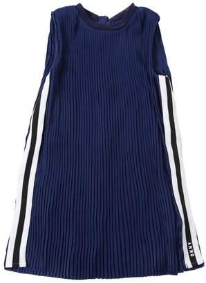 DKNY Pleated Satin Dress