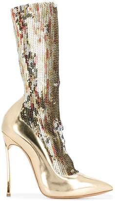 Casadei sequin sock boots