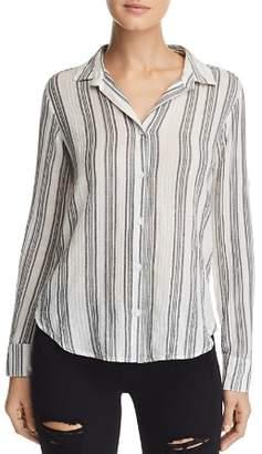 Bella Dahl Metallic Striped Shirt