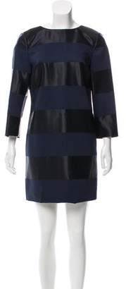 Nellie Partow Stripe Print Mini Dress