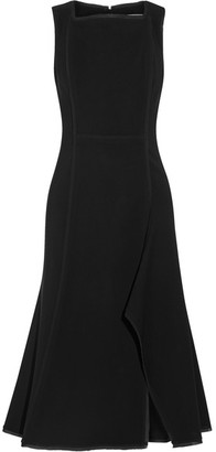 Jason Wu - Chiffon-trimmed Stretch-crepe Dress - Black $1,595 thestylecure.com