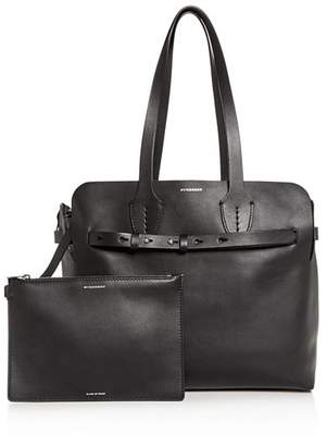f331c9378ae Burberry Black Soft Leather Handbags - ShopStyle