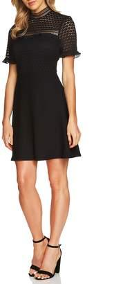 CeCe Lillian Lace Fit & Flare Dress
