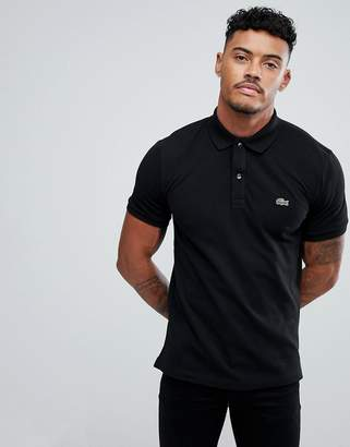 Lacoste slim fit pique polo in black