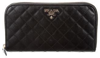 pradaPrada Quilted Saffiano Lux Wallet