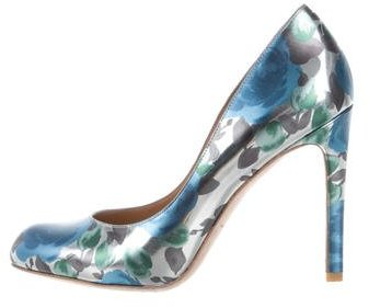 Stella McCartney Metallic Floral Pumps