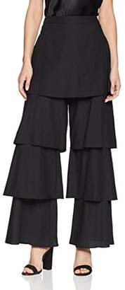 BCBGMAXAZRIA Women's Tiered Ruffle Wide Leg Pant