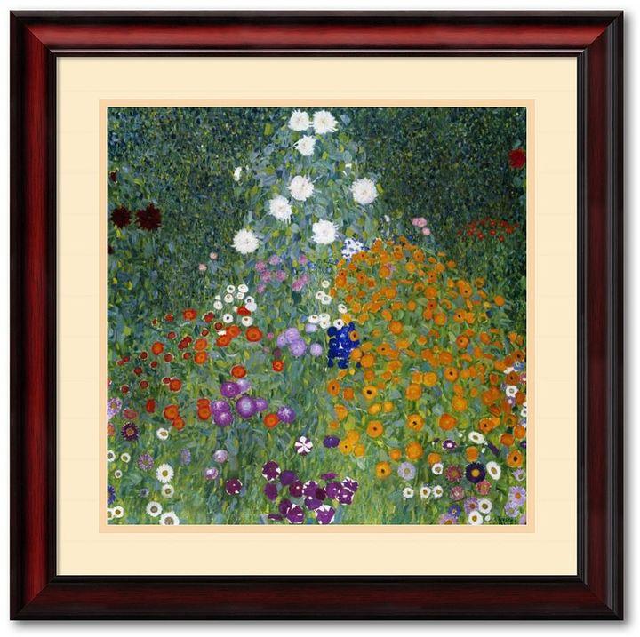 """Gustav """"Farmer's Garden"""" Framed Art Print By Klimt"""