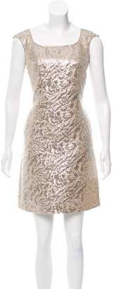Marchesa Brocade Mini Dress