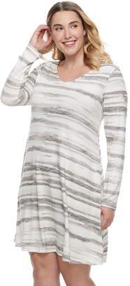 Sonoma Goods For Life Plus Size SONOMA Goods for Life Marled Swing Dress
