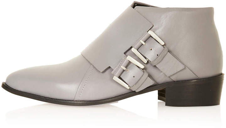 Topshop Adder double buckle monk boots