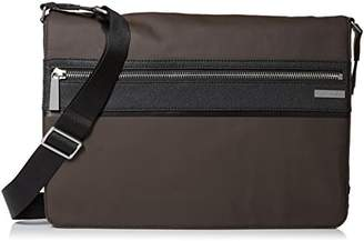 Calvin Klein Men's Coated Nylon with Saffiano Trim Messenger