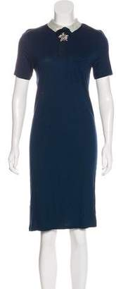 Lanvin Sequin Flower-Accented Dress