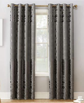 "Sun Zero Elidah Textured Velvet Medallion 50"" x 84"" Energy-Efficient Blackout Grommet Curtain Panel"