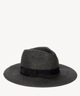 a6a92759c515 Sole Society Women's Wide Brim Fedora Hat With Band Black One Size Paper  Polyester From