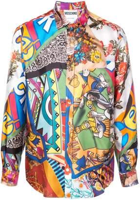Moschino printed button down shirt