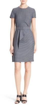 Women's Boss Delanisa Belted Drape Front Sheath Dress $625 thestylecure.com