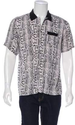 Supreme Short Sleeve Snakeskin Shirt