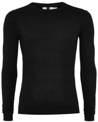 Topman Mens Black Ultra Muscle Fit Sweater