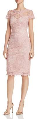 Tadashi Shoji Tadashi Petites Petites Embroidered Lace Sheath Dress