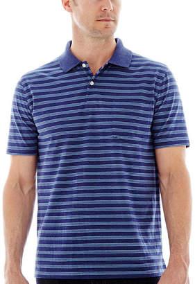ST. JOHN'S BAY Short-Sleeve Striped Jersey Polo