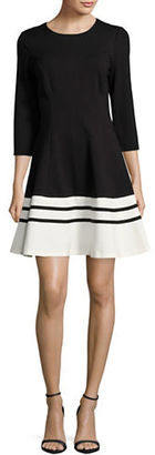 Eliza J Colorblocked A-Line Dress $138 thestylecure.com