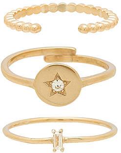 Natalie B Cosmos Ring Set