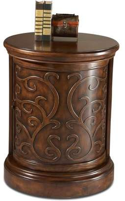 Butler Specialty Company Butler Carved Maple Slide Front Drum Table