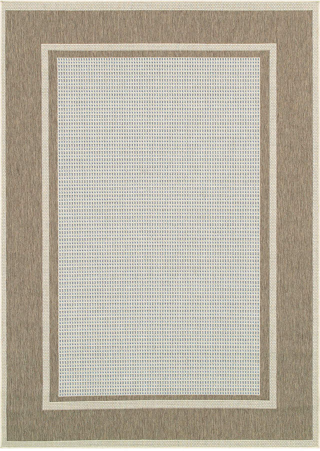 "Couristan Couristan Monaco Indoor/Outdoor Maritime Blue-Sand 2'3"" x 11'9"" Runner Area Rug"