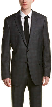 Hart Schaffner Marx 2Pc Wool Suit With Flat Front Pant