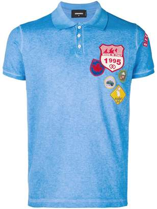 DSQUARED2 badge embroidered polo shirt