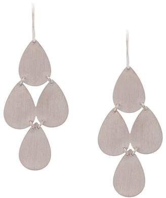 Irene Neuwirth 18kt white gold four drop chandelier earrings
