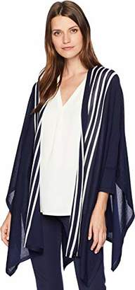 fd6fa25f1d9c at Amazon.com · Anne Klein Women's Stripe Drape Cardigan