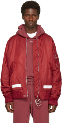Off-White Red Arrows Bomber Jacket $1,635 thestylecure.com