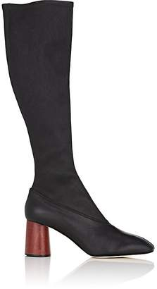 Helmut Lang WOMEN'S STRETCH-LEATHER KNEE BOOTS