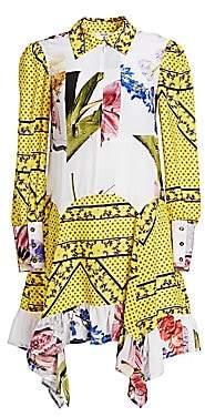 Ganni Women's Silk Mix Print Dress