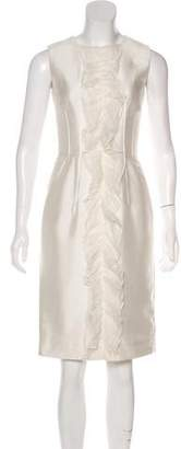 Dolce & Gabbana Ruffle-Trimmed Sheath Dress